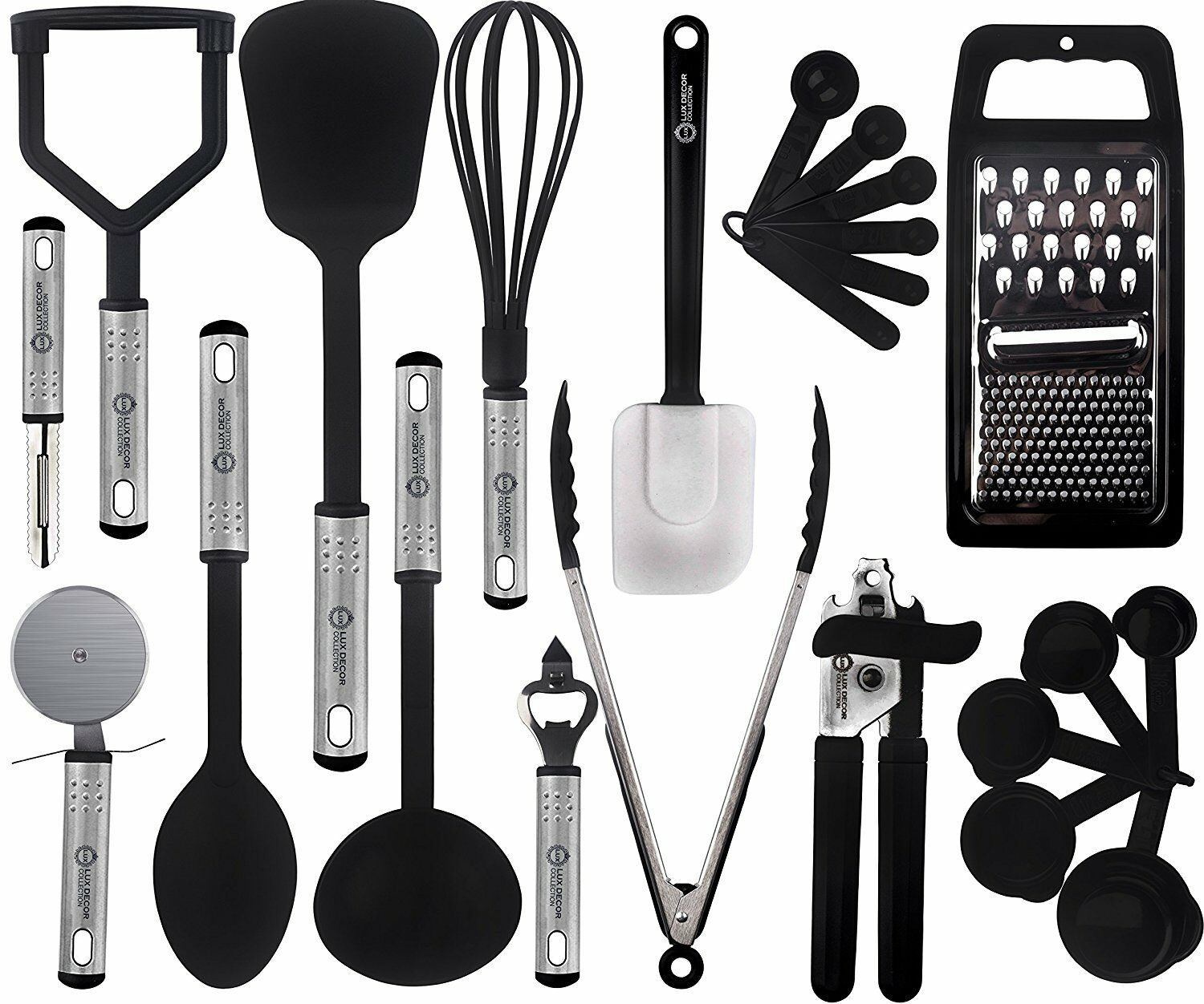 Kitchen Utensils Set 23 Piece Nylon Utinsels Stainless Steel Cooking Utensil Set