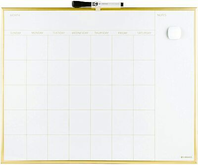 Magnetic Dry Erase White Board Wall Calendar Bulletin 20 X 16 Gold Portable