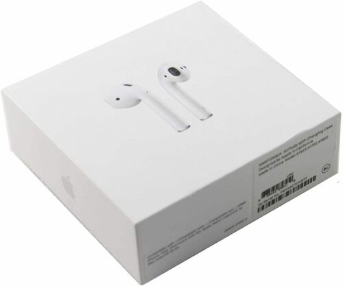 Apple AirPods 2nd Generation Wireless Earbuds & Charging Case MV7N2AM/A New H1