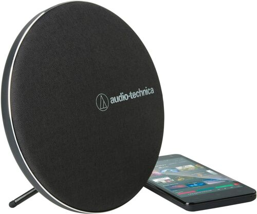 Audiotechnica Wireless Bluetooth Portable Speaker with Dual 44mm Drivers (Black)
