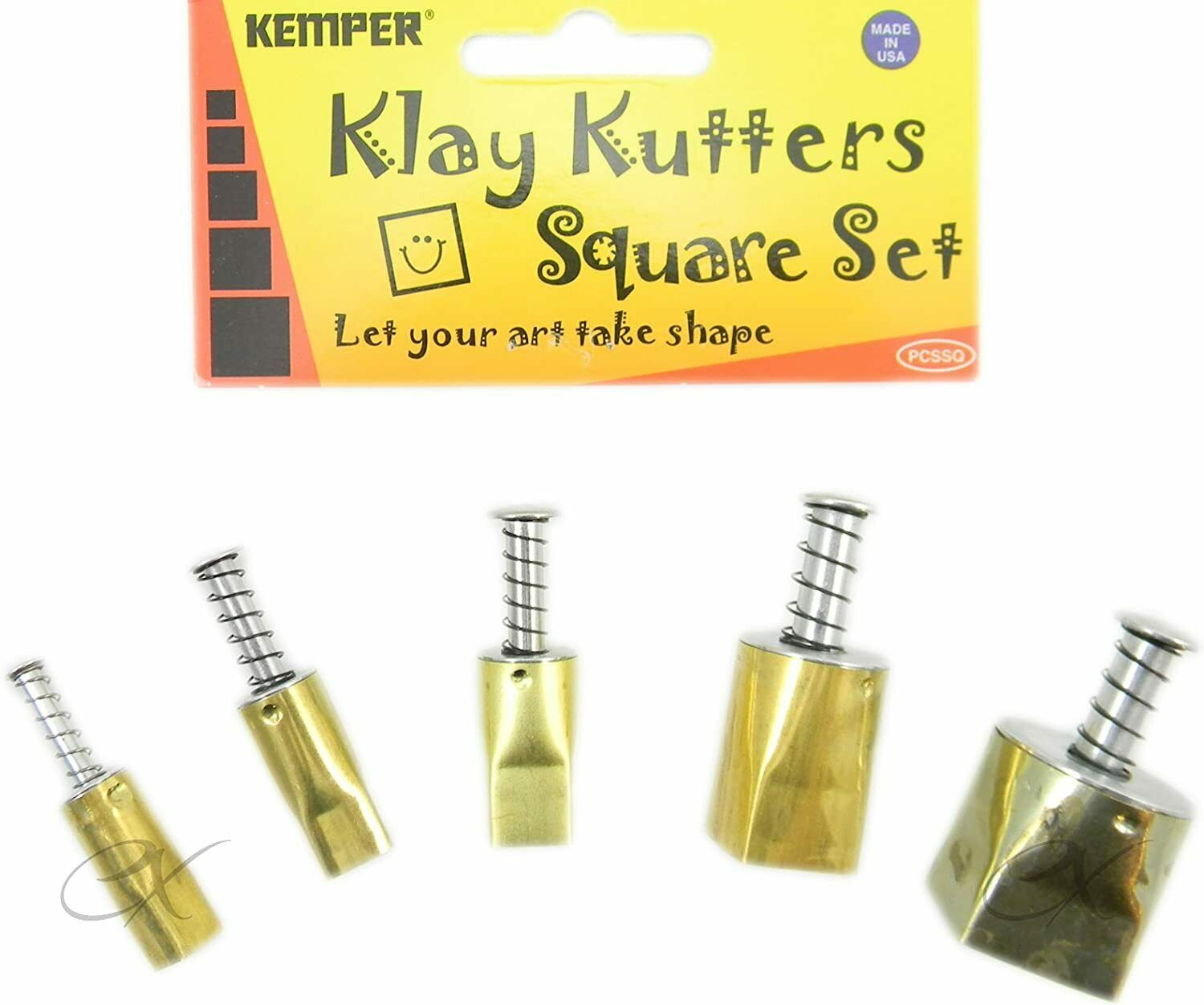 Kemper Tools Clay Dough Pattern Cutters Square Shape Cutters- Set of 5 Sizes Ceramics & Pottery