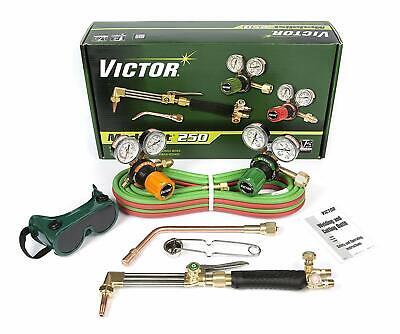 0384-2544 Victor Medalist 250 Torch Kit Set With Regulators