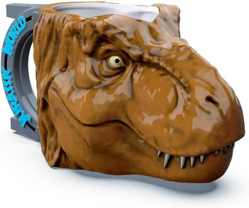 Jurassic World park SCULPTED DINOSAUR TREX HEAD Coffee Mug NEW