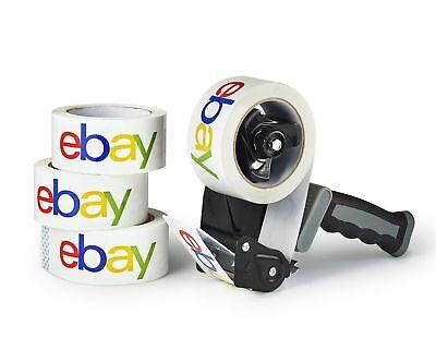 Case Of 6 Rolls Full Color Branded Ebay Logo Packing Tape 2 75 Yards Bopp