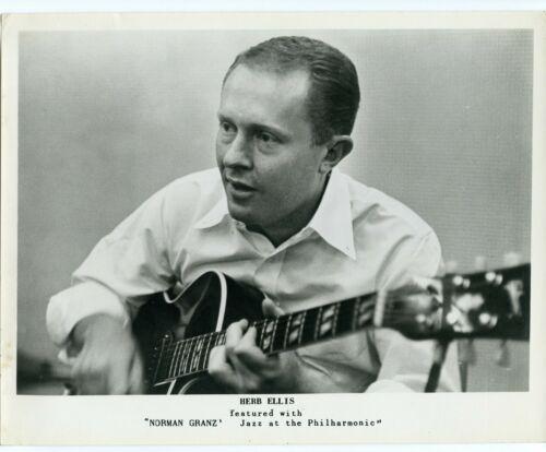 Guitarist Herb Ellis  orig 1950s Jazz at the Philharmonic 8x10 promo photo