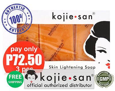 Kojie San 3-Pack Skin Whitening Lightening Bleaching Kojic Acid Soap 65-SAVE!