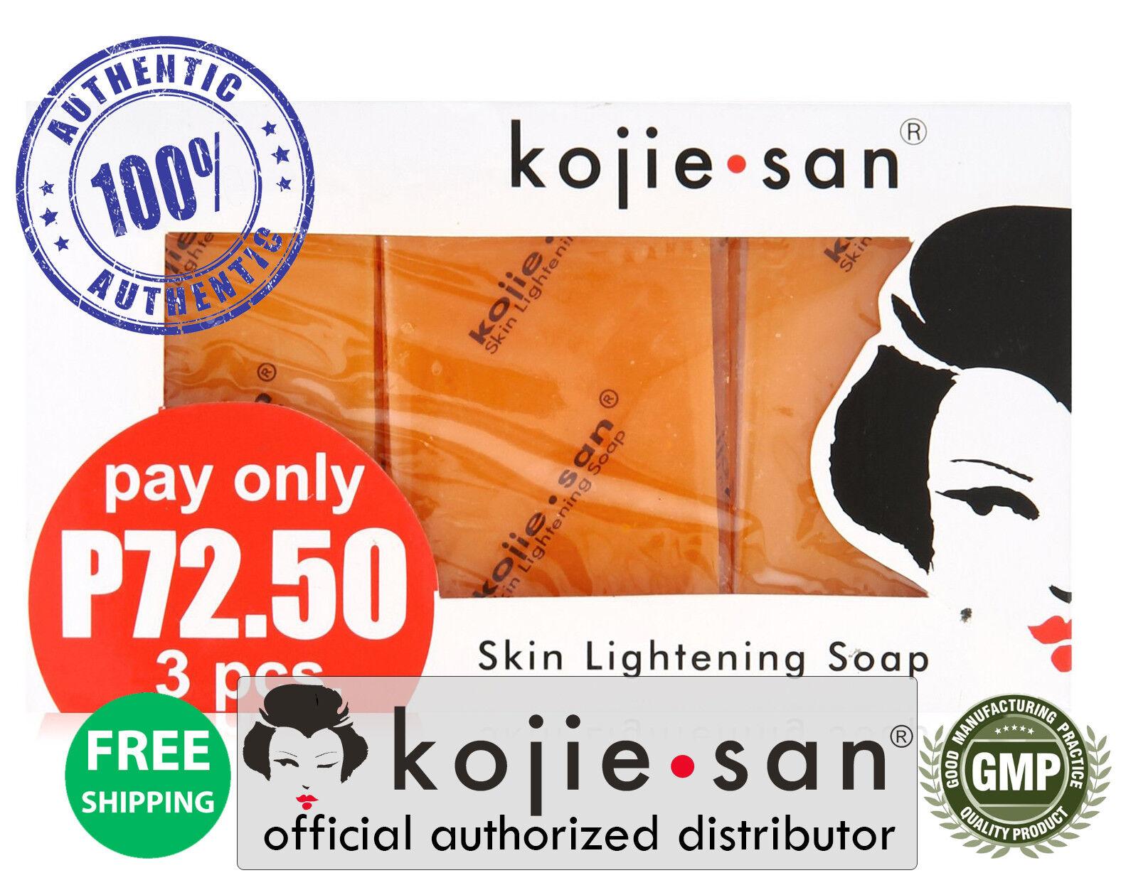 Kojie San 3-Pack Skin Whitening Lightening Bleaching Kojic