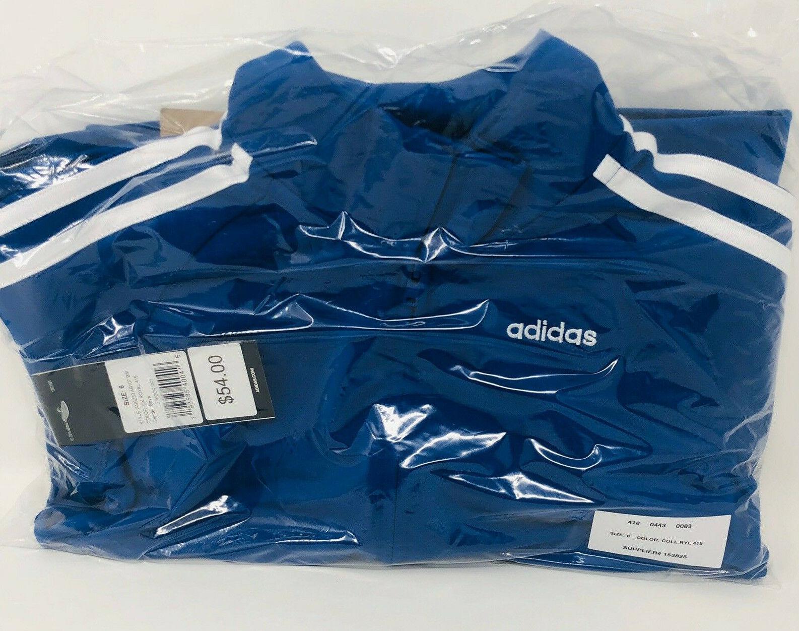 $54 New Adidas 2 Piece Track Suit Size 6 Little Kid Boys Jac