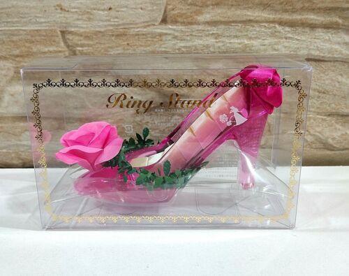 Japan Disney Store Ring Stand Princess Aurora Sleeping Beauty Acrylic High Heel
