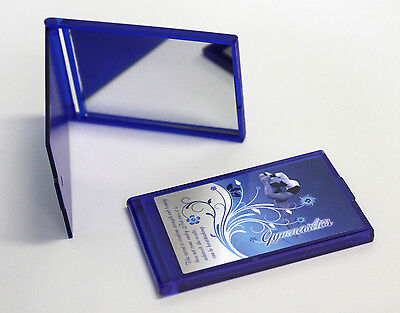 Gymnastics Compact Mirror with Custom Design in Blue & White