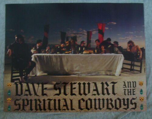 DAVE STEWART AND THE SPIRTUAL COWBOYS Album poster original record store promo