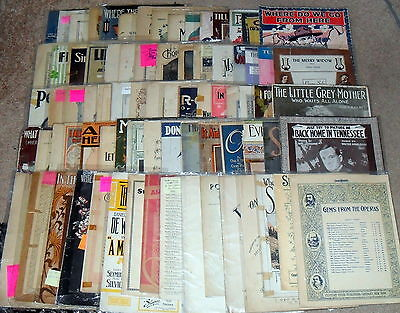 """""""Build your own"""" Lot: MUSIC- Piano - Vintage to Modern  Sheet Music-  $1.00 Each"""