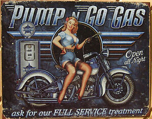 Pump-Go-Gas-TIN-SIGN-full-service-pinup-girl-bike-1698