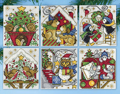 Cross Stitch Kit ~ Design Works 6 Home for Christmas Ornaments PC #DW1697