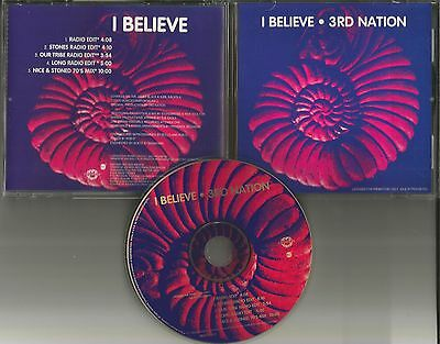 3Rd Nation I Believe 5 Trx W  Rare Edits   Mixes Promo Radio Dj Cd Single Third