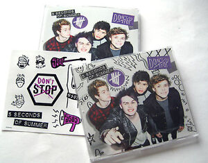 5-Seconds-Of-Summer-Dont-Stop-NEW-2-x-CD-Singles-SET-Stickers