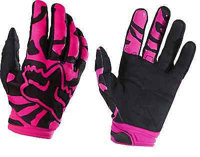 (Fox Womens Dirtpaw Pink Blk Gloves Adult Motorcycle MX ATV Gloves 15169-285)