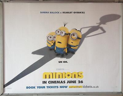 Cinema Poster: MINIONS 2015 (Scarlett Overkill Quad) Sandra Bullock Jon - Scarlett Overkill