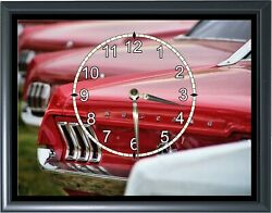 1960's Ford Mustang Taillights Desk or Wall Plaque Clock 7x 9 Photo Realistic