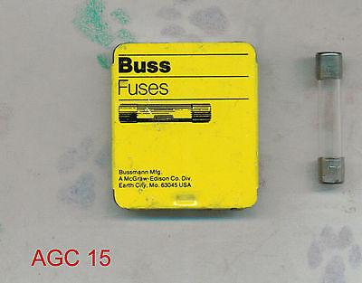 Bussman BK//AGC 1//2 Fusible 250 V 1//2 Amp AGC 0.5 PKG 5