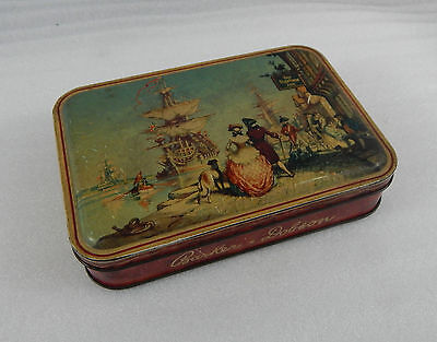 Vintage Barker & Dobson sweet tin The neptune Inn and galleons 17cm x12cm x3.5cm