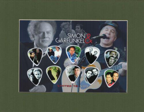 Simon and Garfunklel Picture Guitar Pick Set Limited Mrs. Robinson Graduate