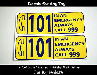 Step 2 Police Car (New Replacement Decals Stickers for Little Tikes Step2 Police Coupe Car UK)