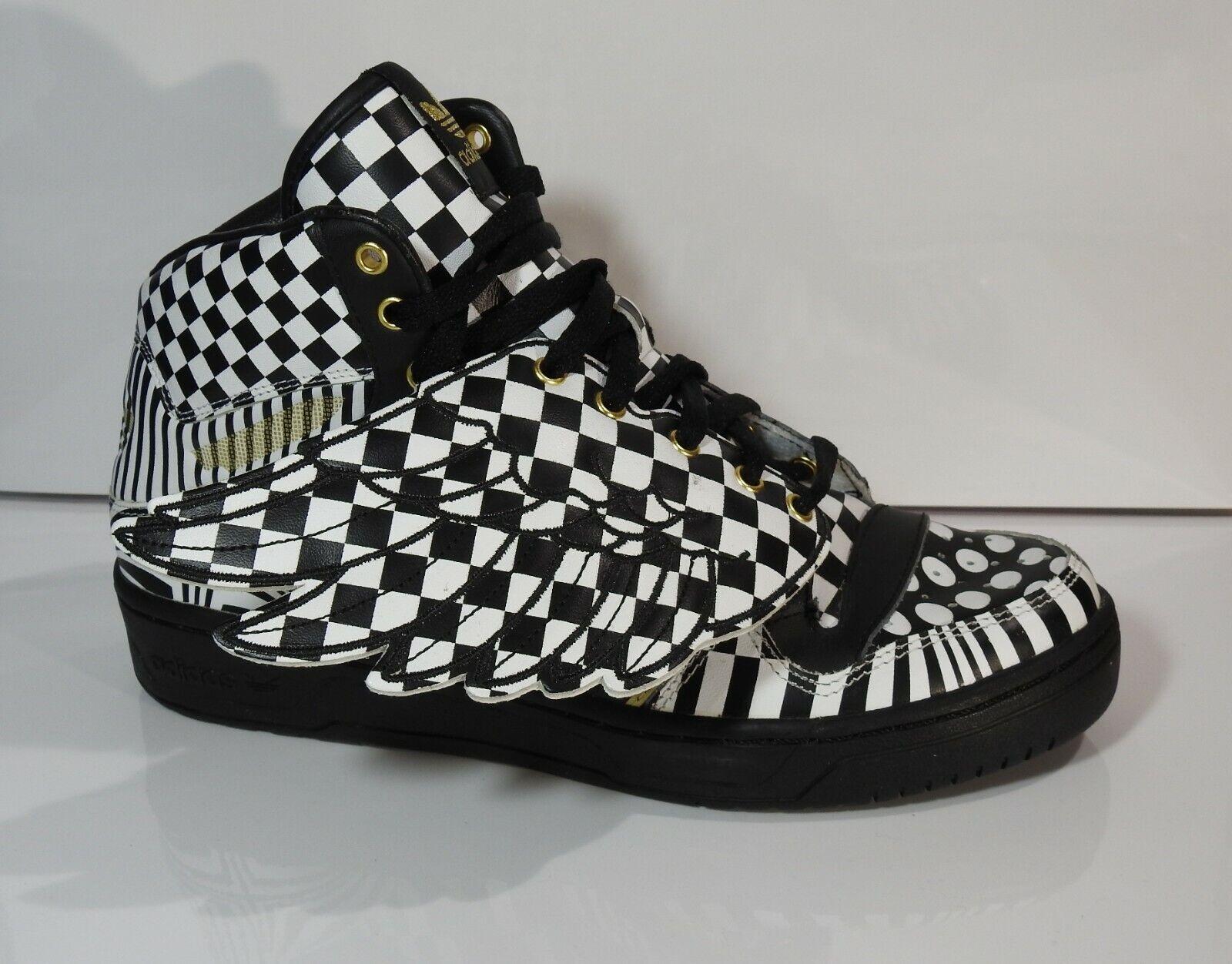 Adidas jeremy scott hommes sneakers js wings opart noir/blanc g95768 42,5