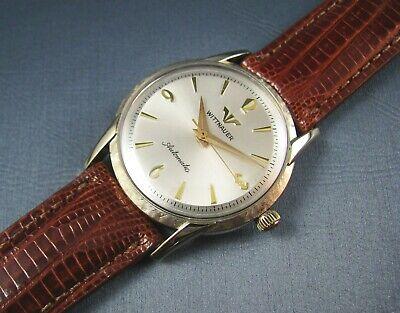 Vintage Longines Wittnauer Automatic 10K Gold GF Mens Dress Watch 17J 1960s