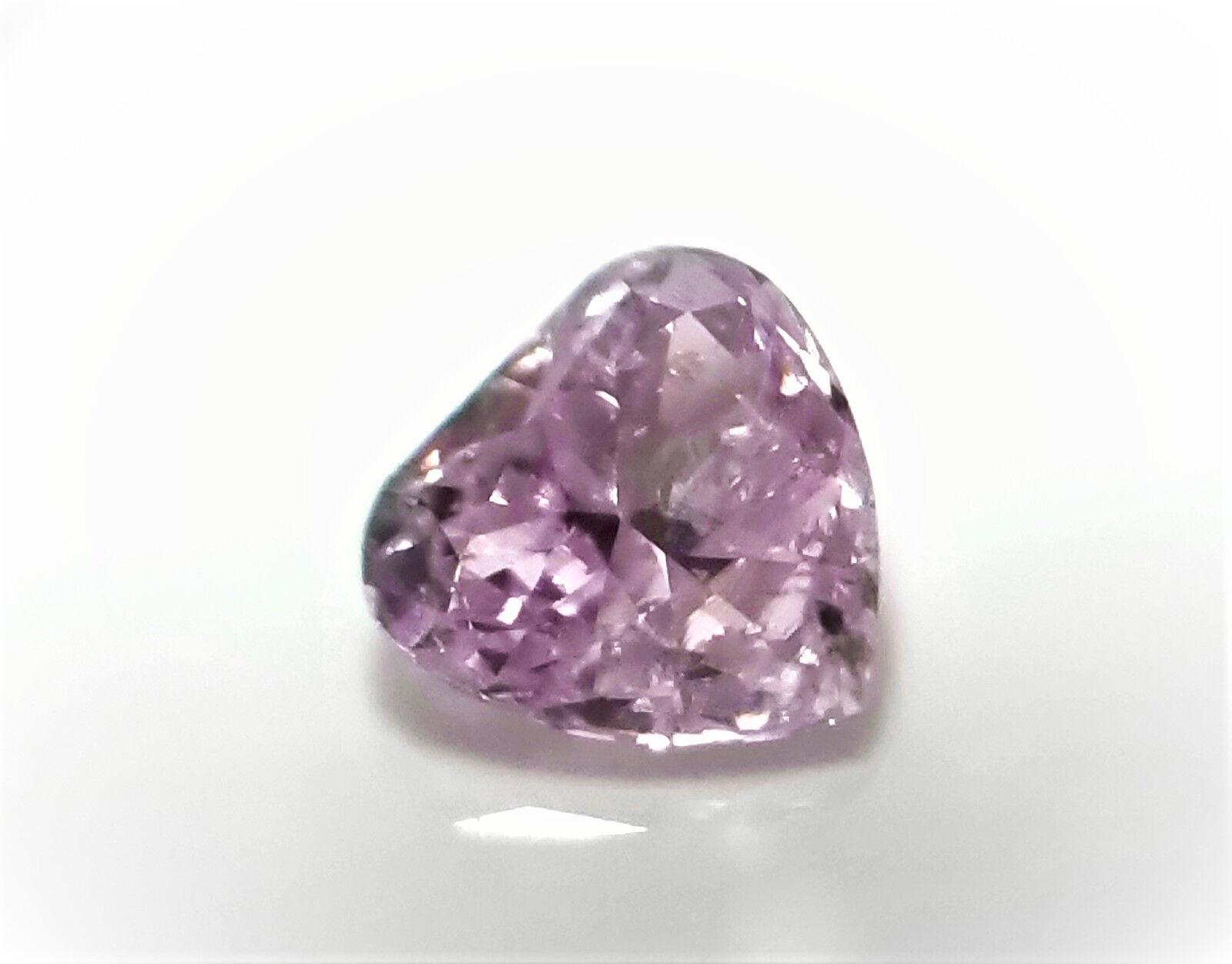 Pink Diamond - 0.23ct Natural Loose Fancy Light Purplish Pink Diamond GIA Heart