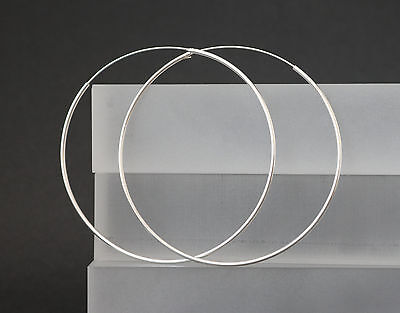Creolen Ohrringe 925 Sterling Silber Ohrschmuck runde große Kreolen 30 60 75 mm  online kaufen