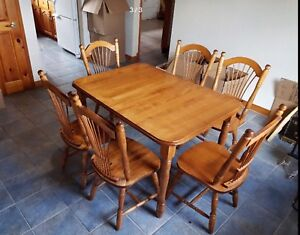 Wood Table And Matching The China Cabinet