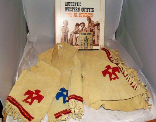 John R Craighead Authentic Western Outfits Jr Indians Leggings Vest Buckhide 8