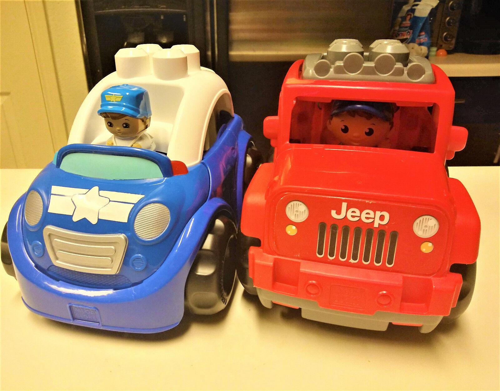 Mega Bloks Police Car & Jeep Builder Cars