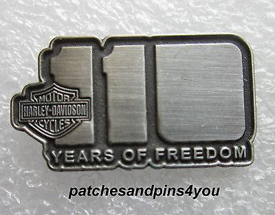 Harley Davidson 110th Anniversary 110 Years Of Freedom Pin New! Free UK P&P!