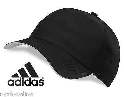 NEW adidas BASEBALL CAP *BLACK* PLAIN PERFORMANCE GOLF UNISEX FITTED PEAK HAT