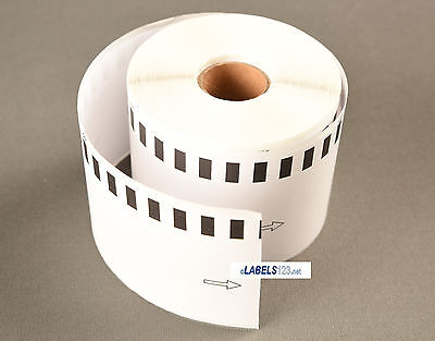 6 Rolls Of Dk-2205 Brother Ql Compatible Continuous Address Labels Bpa Free