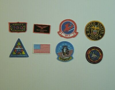 1/6 Scale Topgun Fabric Patches for Goose Nick Bradshaw Navy Flight Suit