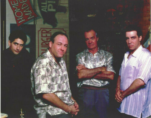 a Young SOPRANOS Cast GREAT 8x10 color photo at Bada Bing