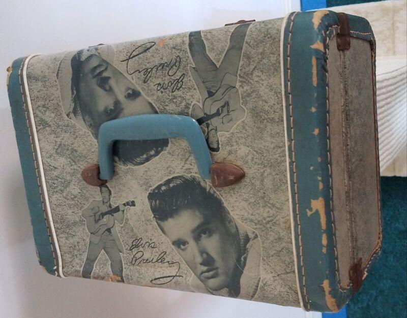 Elvis Presley - 1956 - Overnite Case/Make-Up Case - Blue - Good Condition