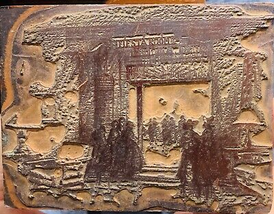 Antique Letterpress Printing Block Fiesta Room Ladies Of The Evening Cowboy