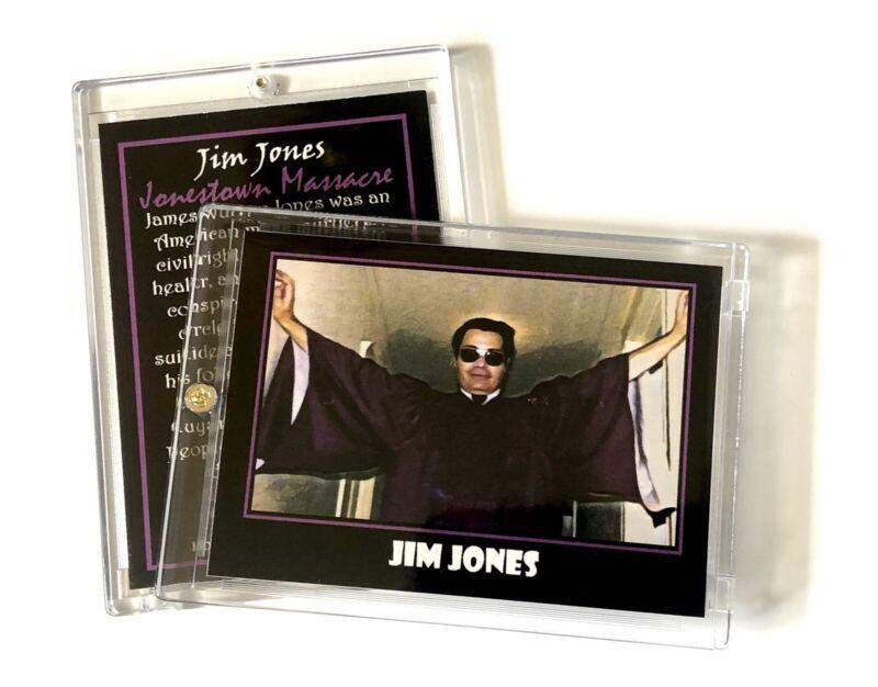 Jim Jones Trading Card In Collector's Case / Jonestown