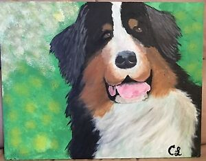 Dog painting by my daughter