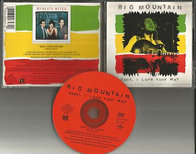 BIG MOUNTAIN Baby I love your Way 5TRX MIXES & RADIO trk & SPANSIH USA CD -