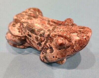 Hand Carved Polished Stone Frog Toad Figurine