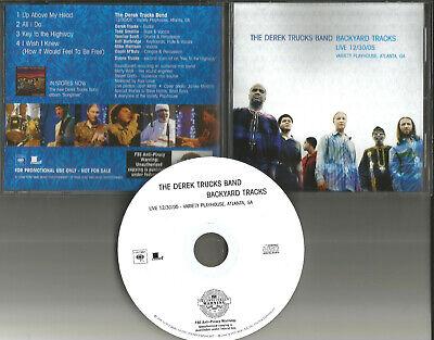 Allman Brothers DEREK TRUCKS Backyard w/ 4 RARE LIVE TRX PROMO DJ CD Single 2006
