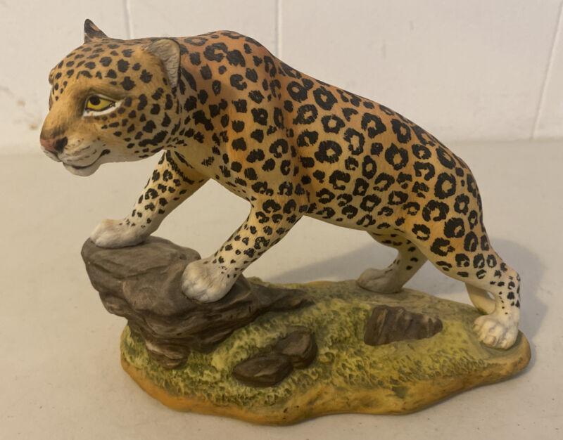 "Vintage 5"" Andrea by Sadek 6011 Leopard Figurine Statue Big Cat Rock Jungle"