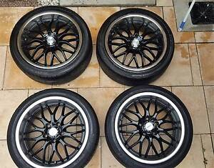 """Speedy Black Cheetah 18"""" Rims with Tyre's Empire Bay Gosford Area Preview"""