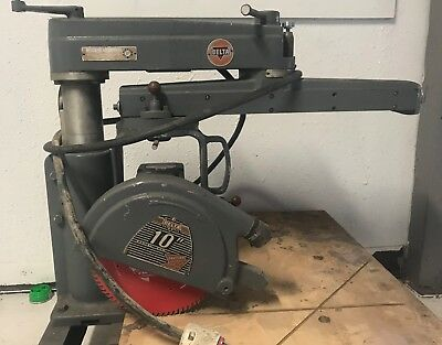 Delta Rockwell 30-c 10 Inch Radial Arm Saw Vintageno Reserve