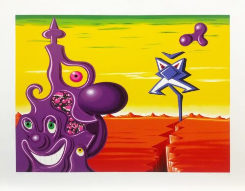 "Kenny Scharf ""sajippe Krakka Joujesh"" 1998   Hand Signed Serigraph   Gallart"